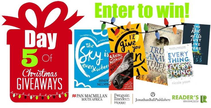 This Day 5 Hamper is so amazing that we wish we could keep it! Filled with all of the best Young Adult books around from Pan Macmillan South Africa, @PenguinBooksSA & @JonathanBallPub