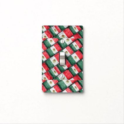 Mexican Flag Pattern Design Light Switch Cover - patterns pattern special unique design gift idea diy