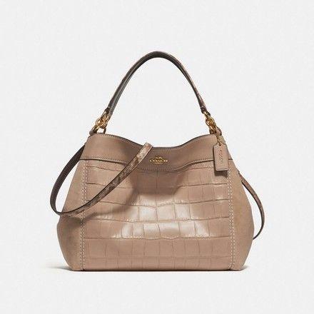 e92d9c569c26e0 Coach Lexy Beechwood/Light Gold Leather Shoulder Bag 22% off retail ...