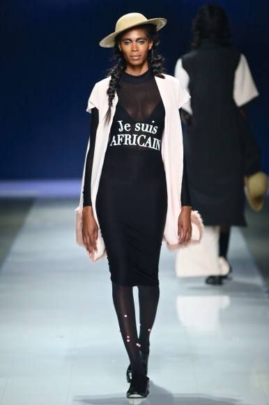 Dress By South African Designer Samantha Constable 2 month Prior To The Attacks. Stressing Je Suis African