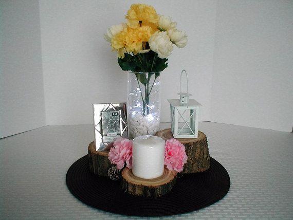 Wedding Log Base Set Home Decor Cabin by SevierRiverWoodworks