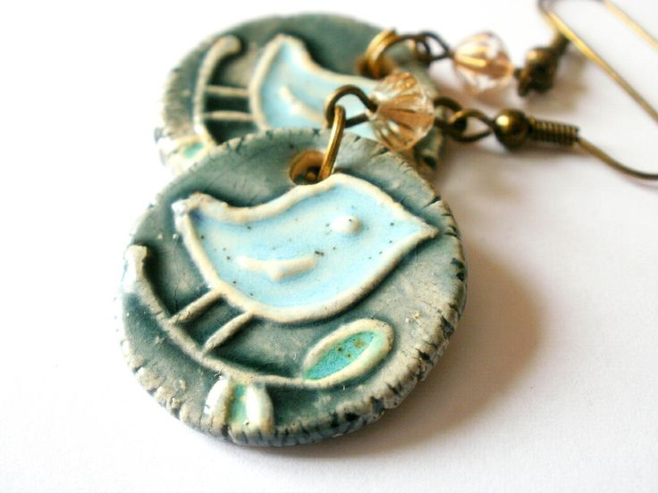 Glazed ceramics earring