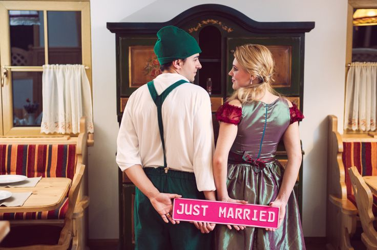 Just married photo decorations by Aspiration Events