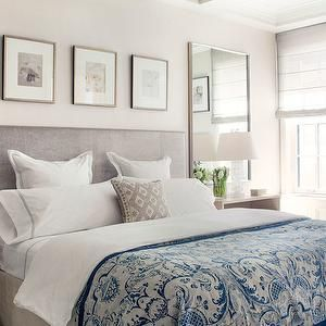 Elegant And Serene Is This Master Bedroom Created By Victoria Hagan Interiors Bedrooms Bed White Blue Hotel Bedding Pinterest