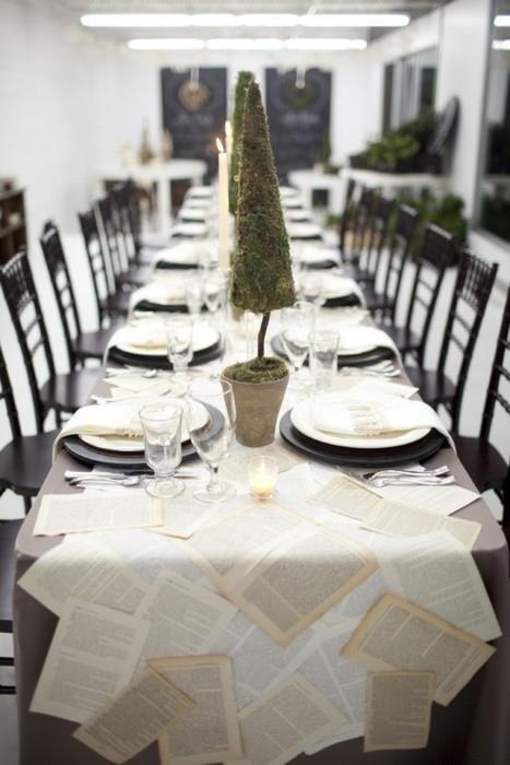 Tischdeko für Bücherwürmer