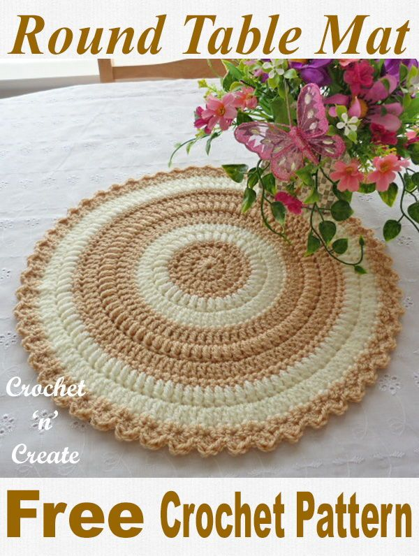 Round Coffee Table Mat 9