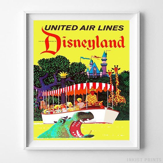 56 best Vintage Disneyland Attraction Wall Art Posters by ...