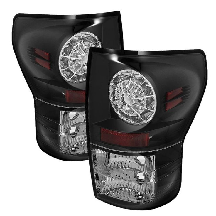 Spyder 2007-2013 Toyota Tundra LED Tail Lights - Black - Set of 2 (ALT-YD-TTU07-LED-BK)