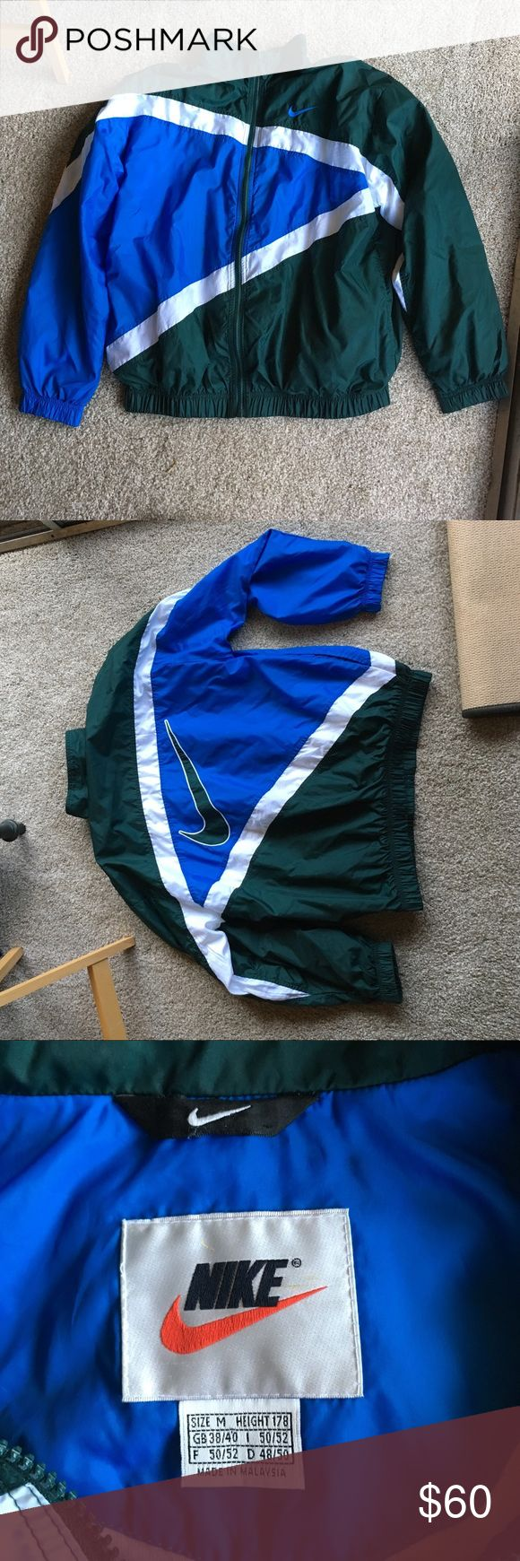 Vintage Nike Windbreaker Vintage 90's warmup jacket. Lightweight. Fantastic condition for how old it is. No rips or tears. Size medium. Nike Jackets & Coats Windbreakers