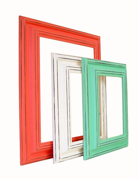picture frame 8x10 picture frames coral by mountaincoveantiques