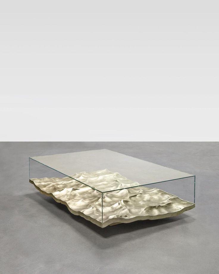 """946 mentions J'aime, 25 commentaires - Mathieu Lehanneur (@mathieulehanneur) sur Instagram: """"Liquid Table, bronze version. @carpentersworkshopgallery #designbymathieulehanneur…"""" #FredericClad #TH"""