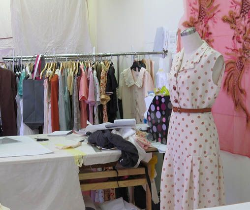 Dress worn by Alice Whelan, as seen on the set of Indian Summers   Courtesy of Rebecca Eaton for MASTERPIECE