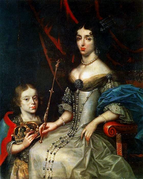 Marie Casimire Sobieska, Queen of Poland by Daniel Schultz,1674