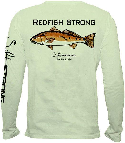 9 spot redfish strong performance fishing shirt salt for Custom saltwater fishing shirts