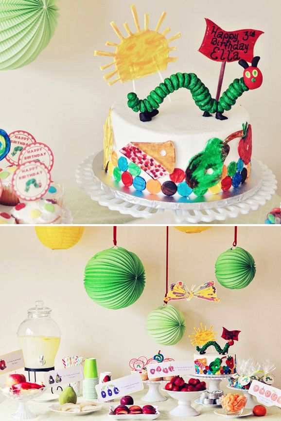 The Very Hungry Caterpillar Birthday: 1St Birthday Parties, Hungry Caterpillar Party, Caterpillar Birthday, Veryhungrycaterpillar, Very Hungry Caterpillar, 1St Birthdays, Party Ideas, Birthday Ideas, Birthday Party