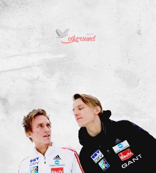 Anders and Rune in Vikersund 2015