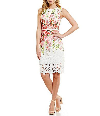Antonio Melani Jolene Printed Chemical Lace Dress #Dillards