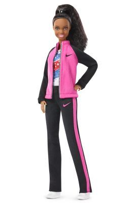 "Released May 1, 2017; the Gabby Douglas Barbie® doll celebrates the extraordinary accomplishments of this inspiring athlete and earns her role as a Barbie® ""Shero"" honoree, a female hero inspiring girls by breaking boundaries and expanding possibilities for women everywhere. read my blog: www.modbarbies.com"