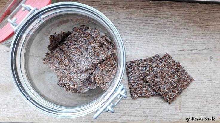 Crackers aux graines de lin et de chia [Testés et loupés : attention à ce qu'ils soient bien durs après 2h]