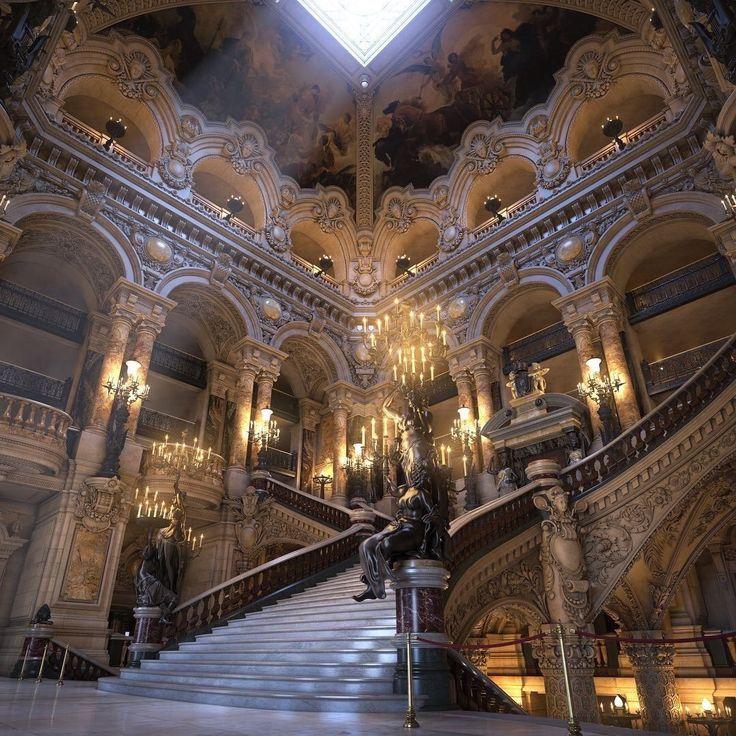A Ópera Garnier em Paris, França   – Places to go