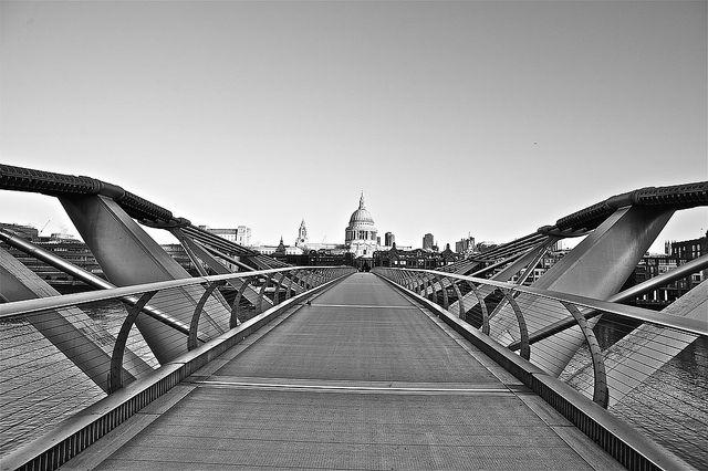Millennium Bridge and St Paul's.
