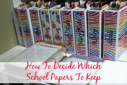 MANY mothers I asked had saved EVERY. SINGLE. PIECE of paper their child has brought home from school. Here's how to decide what school papers to keep.