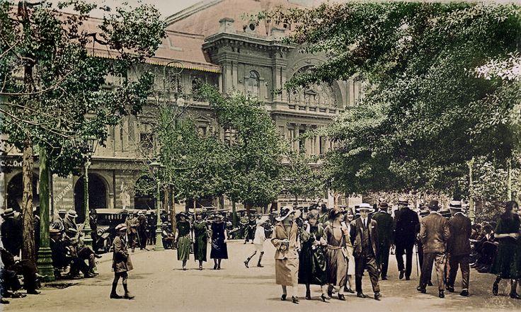 Plaza de Armas de Santiago, año 1930 1