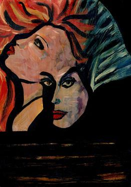 "Saatchi Art Artist CRIS ACQUA; Painting, ""23-KARMA de ARTE. Fuerza."" #art"