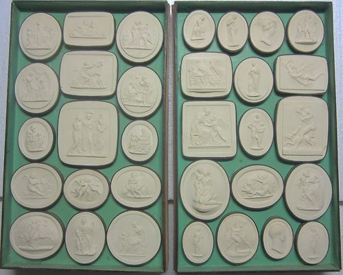 Vatican Cameos Pietro Paoletti Casts Roman Period This group of 32 cast plaster composition finely detailed cameos were reportedly made from the collection of ancient cameos in the Vatican, and were created between 1805 and 1845.