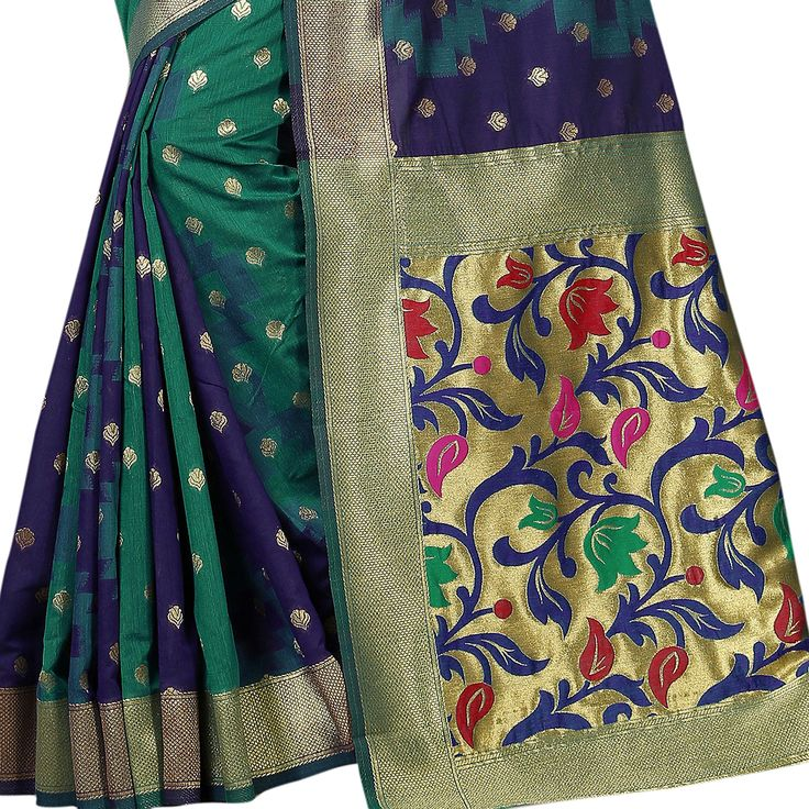 Shop Multi Color Banarasi Silk With Jari Jacquard Work Designer Saree online from India's best online shopping site - Shopkio.com, offering latest collection at cheap prices with cash on delivery.