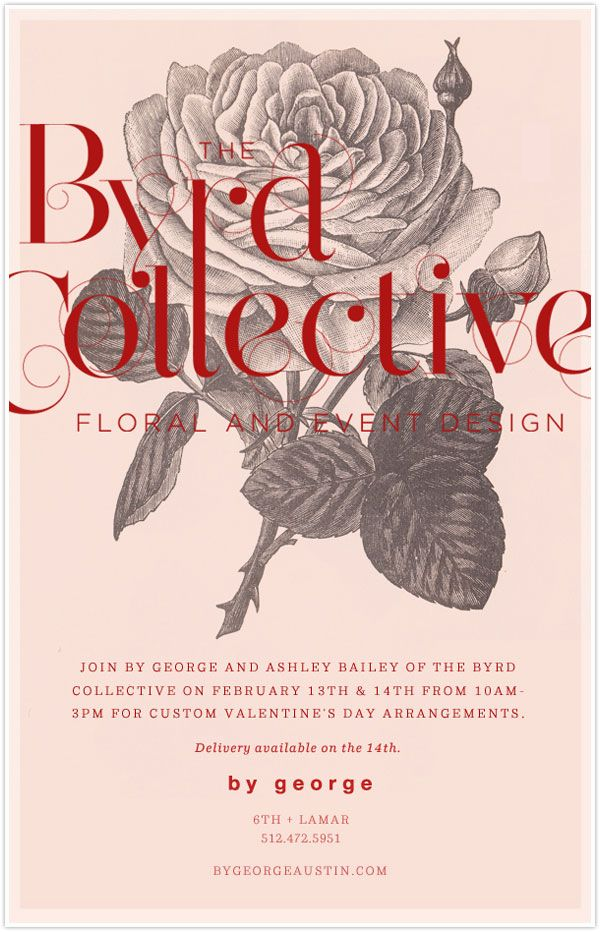 the byrd collective floral flower florist pop up shop austin texas by george valentine's day