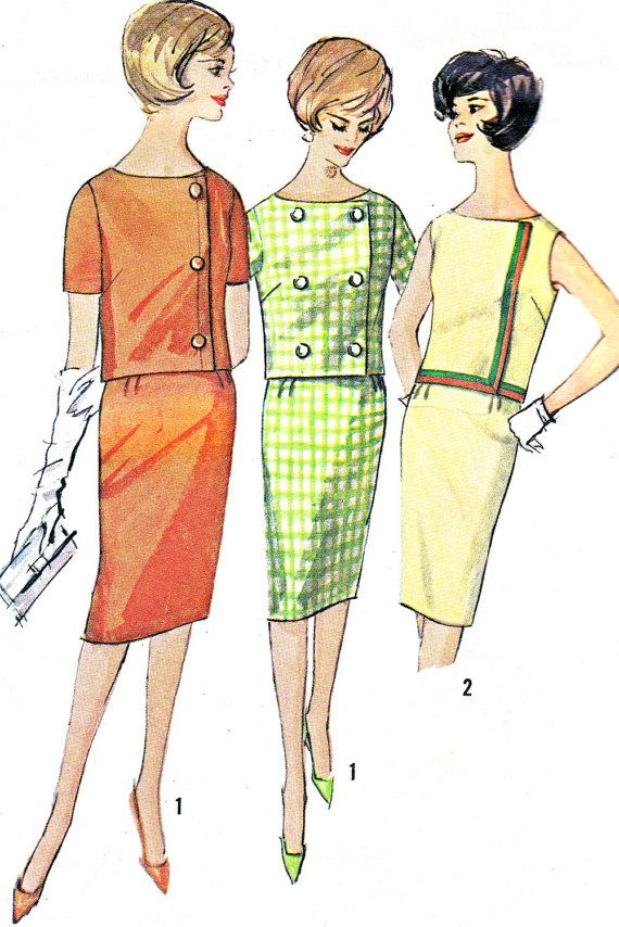 1960s Dress Pattern Simplicity 4255 Two Piece Dress by paneenjerez, $10.00