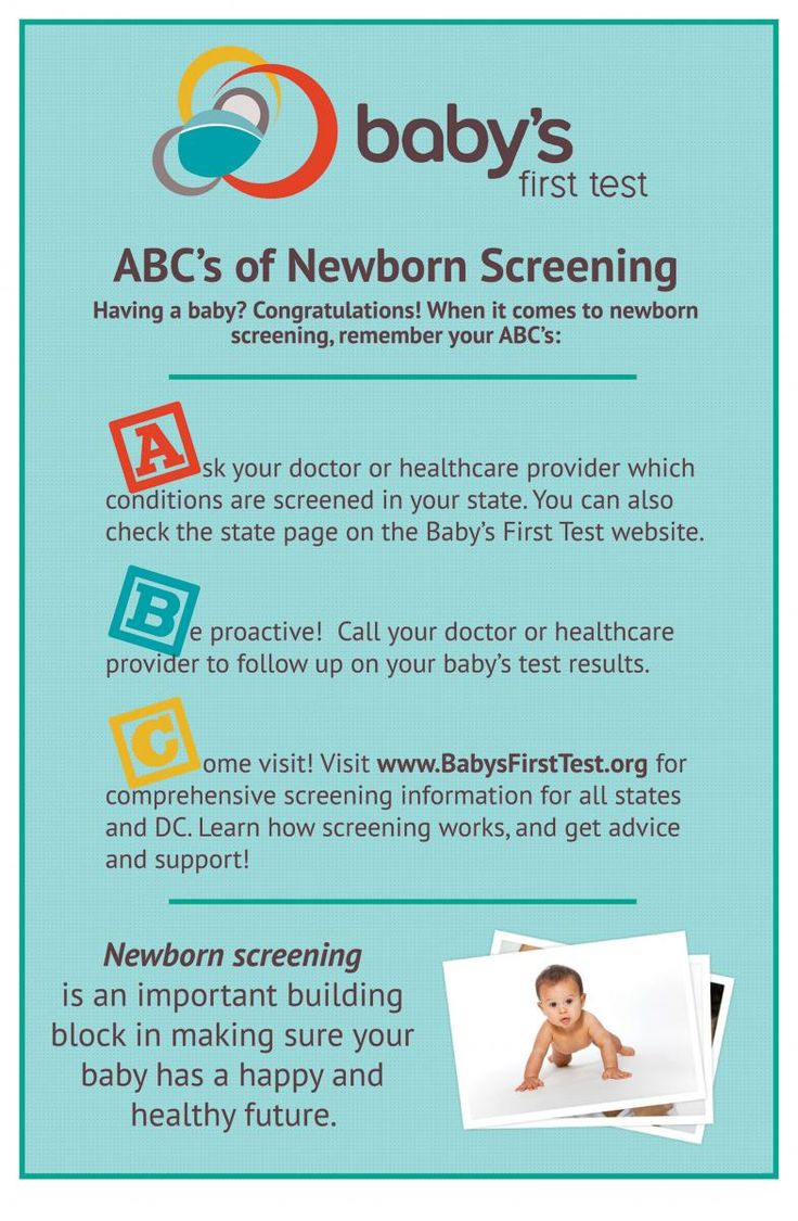 Do you know the ABC's of newborn screening? Make sure you have all the facts to help keep your baby healthy!
