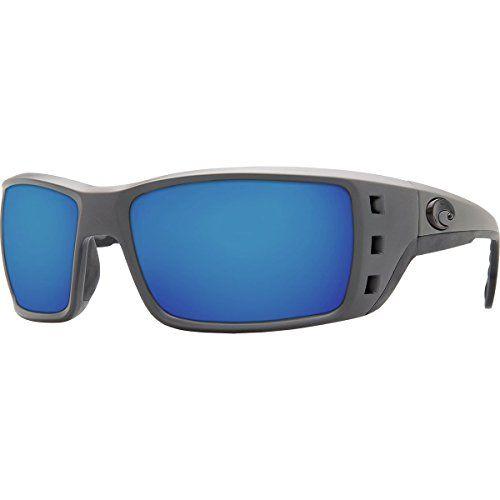 Costa Permit Polarized Sunglasses - Costa 580 Glass Lens Matte Gray Blue Mirror 580g, One Size