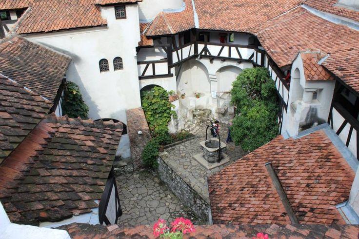 Interior courtyard, Castle Bran, Romania