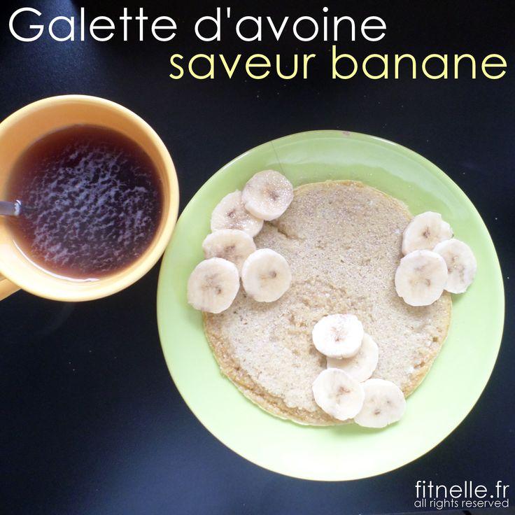 Galette d'avoine à la banane - Fitnelle