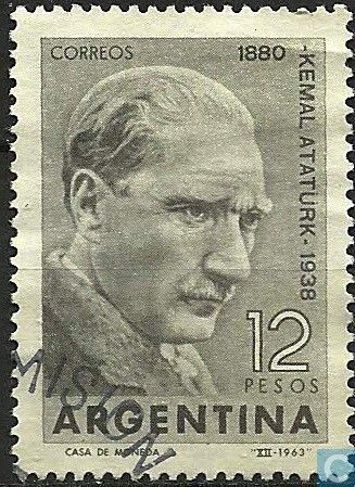 Postage Stamps - Argentina [ARG] - Anniversary of the death of Kemal Ataturk