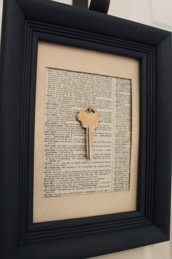 First house key framed with Joshua 24:15.  A must do for our new home.