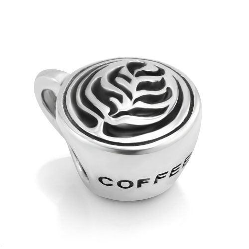 925 sterling silver coffee cup with classic rosetta leaf
