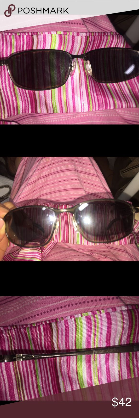Panama Jack sunglasses unisex style Panama jack sunglasses amber tiny small scratch  in good condition Panama Jack Accessories Sunglasses
