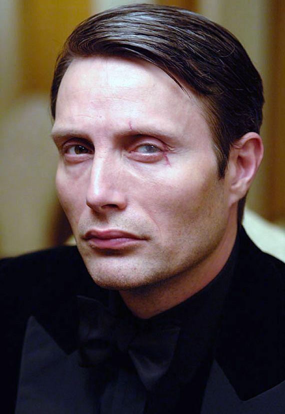 Mads Mikkelsen as Le Chiffre. Best Bond villain ever.