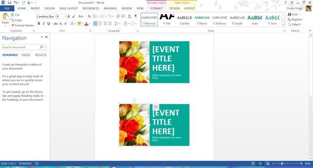 microsoft office recipe card templates