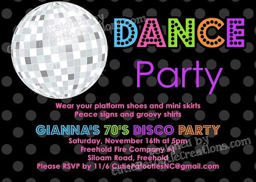 70s 80s 90s Disco Dance Party Invitations | BIRTHDAY PARTY ...