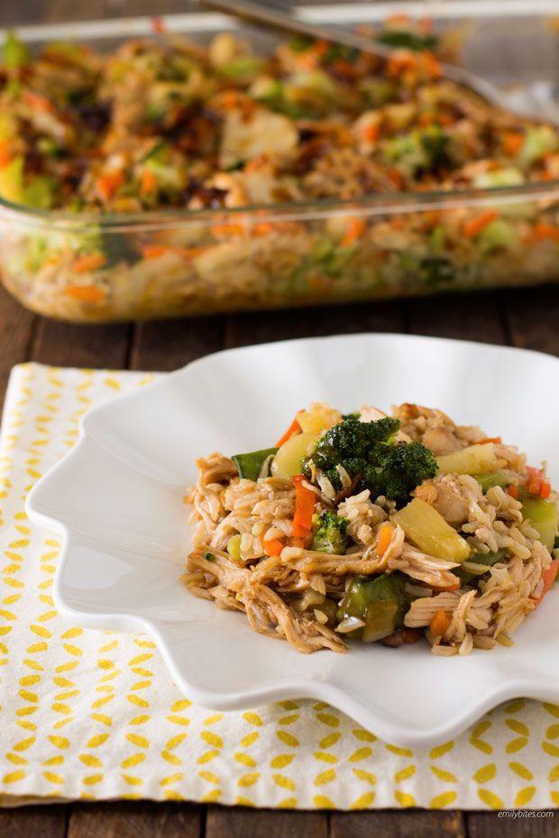 Teriyaki Chicken and Rice Casserole