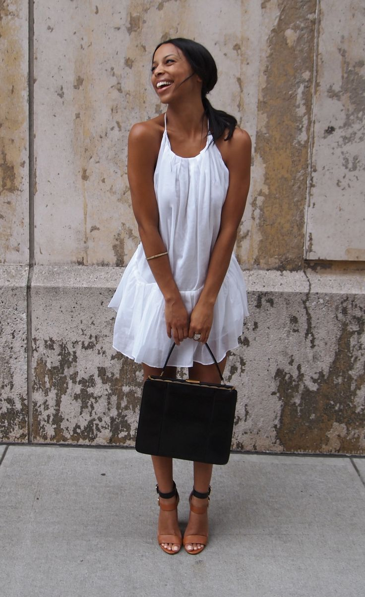 Black dress in summer - Find This Pin And More On How To Wear Summer Shoes White Summer Dress And Black