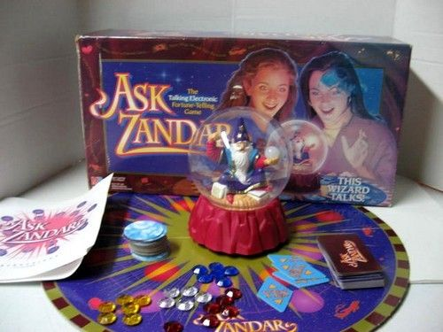 Ask Zandar - Board Game 1990s kids game, kinda like really fancy magic 8 ball