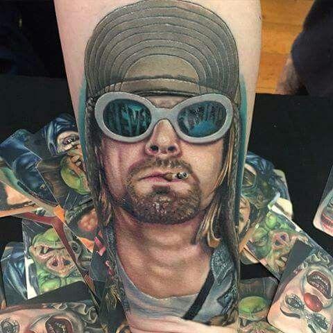 Kurt Cobain tattoo