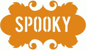 Silhouette Design Store - View Design #66672: spooky halloween label frame