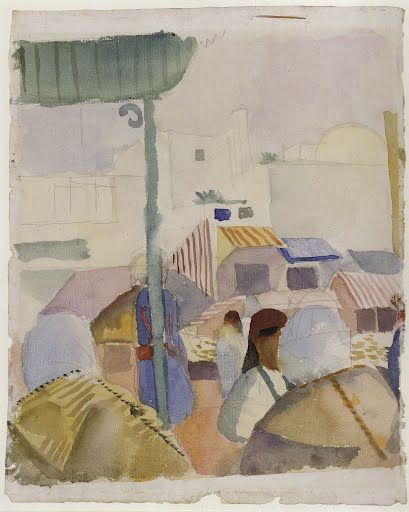 In April 1914, only months before his death, August Macke undertook his  journey to Tunis together with Paul Klee and Louis Moilliet – a journey  whose artis...