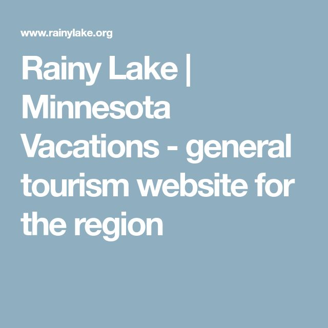 Rainy Lake | Minnesota Vacations - general tourism website for the region